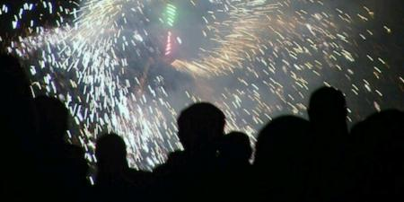 Baston fireworks display