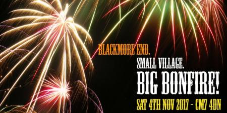 Blackmore End fireworks display 2017