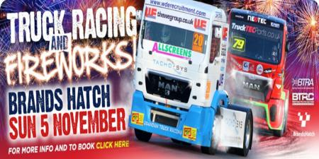 Truck racing and fireworks at Brands Hatch