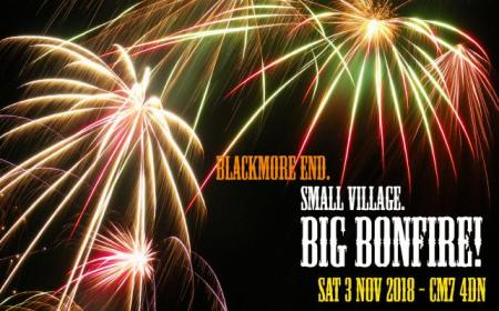 Blackmore End fireworks Sat 3rd Nov 18 - small village, big bonfire!