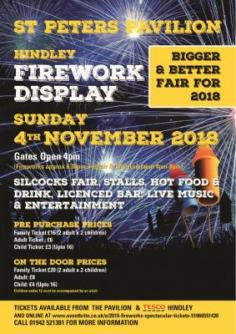 Firework show Wigan 4th November 2018